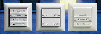 feller eib knx ediziodue 1 8fach taster touchpanel und hotelcard schalter. Black Bedroom Furniture Sets. Home Design Ideas